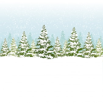 Vector illustration of christmas forest.