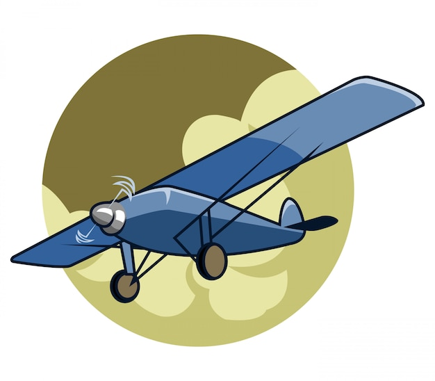 Vector illustration of classic airplane