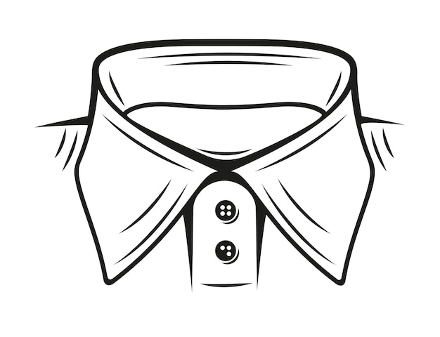 Vector illustration of a collar shirt on white background