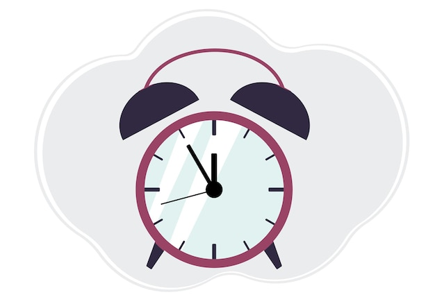 Vector illustration of colored alarm clock with arrows