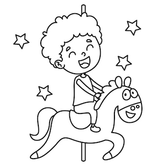 Vector illustration of coloring page