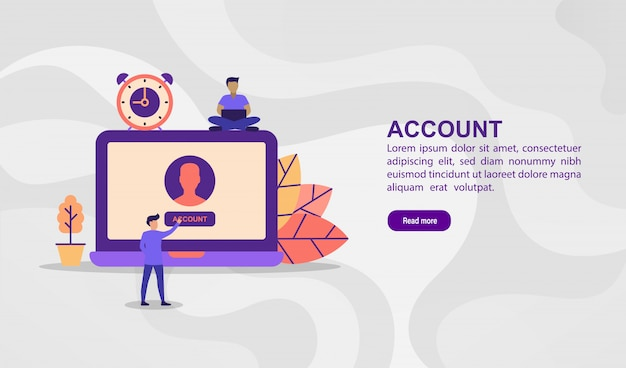 Vector illustration concept of account. modern illustration conceptual for banner template