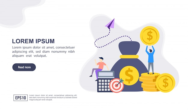 Vector illustration concept of accounting