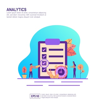 Vector illustration concept of analytics