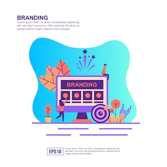Vector illustration concept of branding