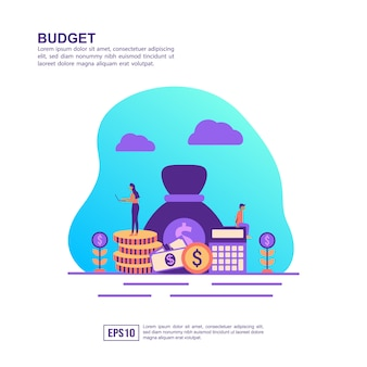 Vector illustration concept of budget