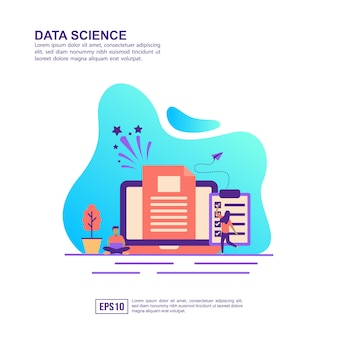 Vector illustration concept of data science