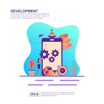 Vector illustration concept of development
