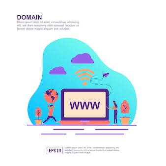 Vector illustration concept of domain