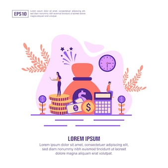Vector illustration concept of economy