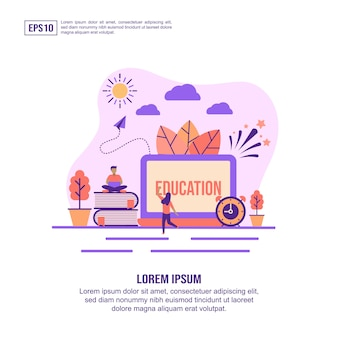 Vector illustration concept of education
