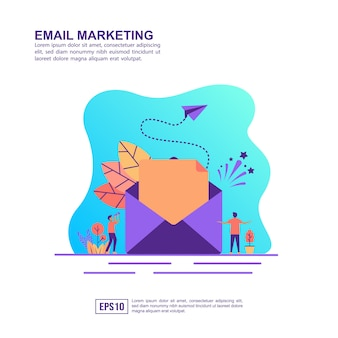 Vector illustration concept of email marketing