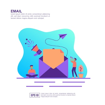 Vector illustration concept of email