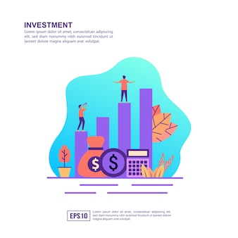 Vector illustration concept of investment