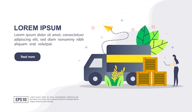 Vector illustration concept of logistic distribution with character