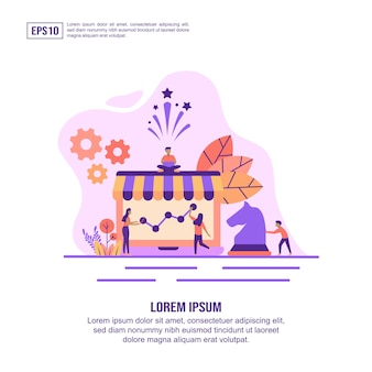 Vector illustration concept of marketing strategy