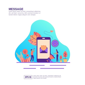 Vector illustration concept of message