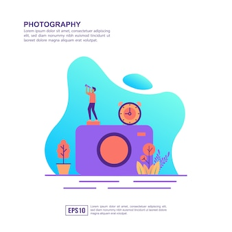 Vector illustration concept of photography