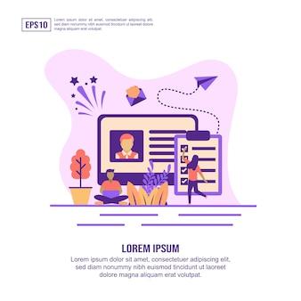 Vector illustration concept of recruitment
