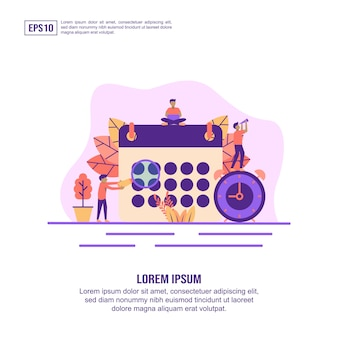 Vector illustration concept of schedule