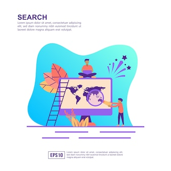 Vector illustration concept of search