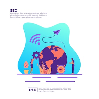 Vector illustration concept of seo