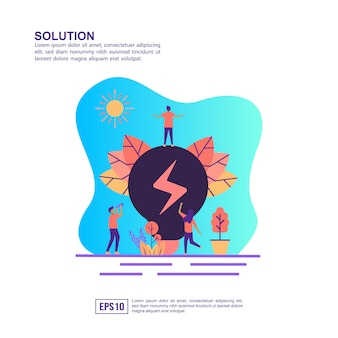 Vector illustration concept of solution