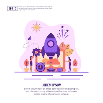 Vector illustration concept of startup