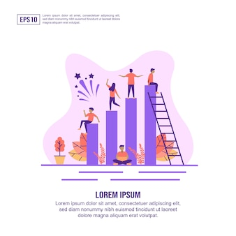 Vector illustration concept of teamwork
