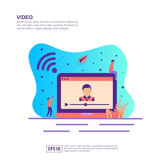 Vector illustration concept of video