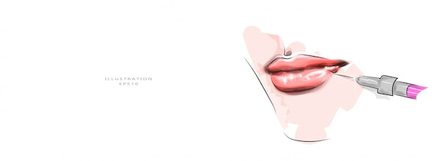 Vector illustration. cosmetology and beauty injections.