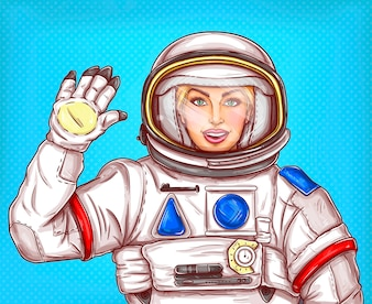 Vector illustration cosmonaut