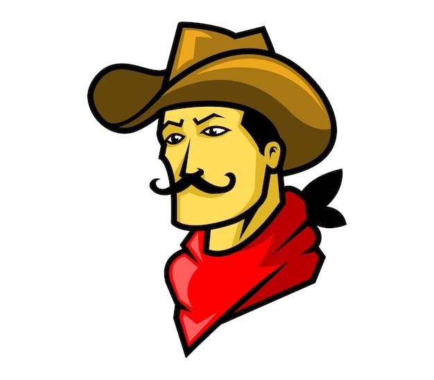 Vector illustration of cowboy head