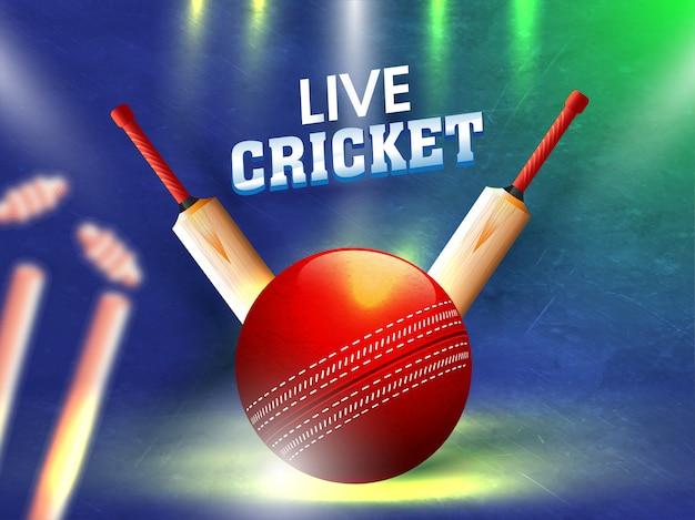 Vector illustration of cricket ball
