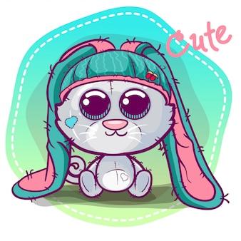 Vector illustration of a cute ca