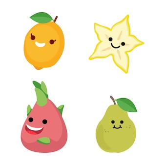 Vector illustration of cute fruit perfect for various needs in graphic design