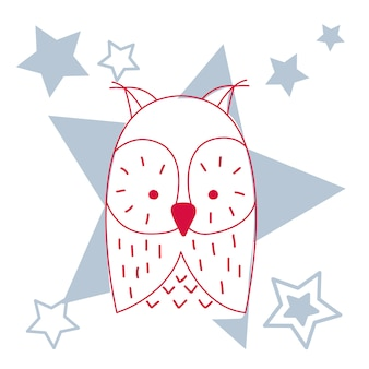 Vector illustration of a cute owl.