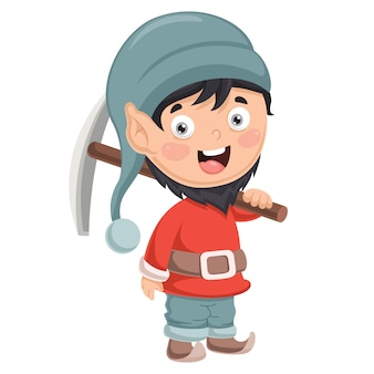 Vector illustration of dwarf