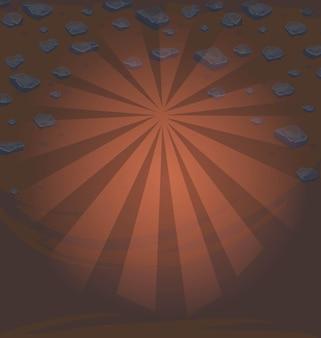 Векторная иллюстрация землистые текстуры с каменными валунами Premium векторы