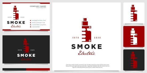 Vector illustration of ecigarette vapor negative space hipster