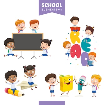 Vector illustration of education elements