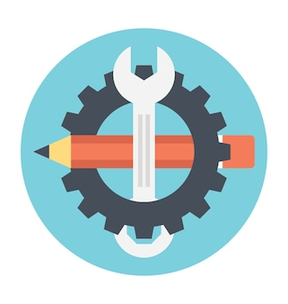 Vector illustration of engineering and technology