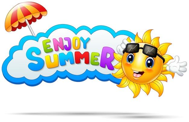 Vector illustration of enjoy summer