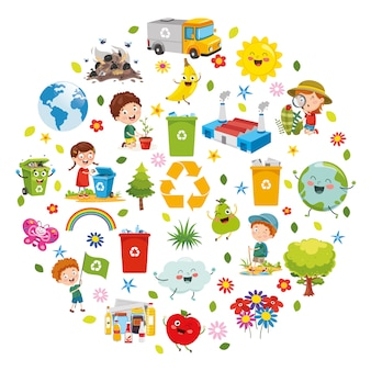 Vector illustration of environment concept design