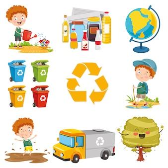 Vector illustration of environment elements