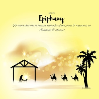 Vector illustration of epiphany concept greeting