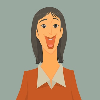 Vector illustration of excited businessman