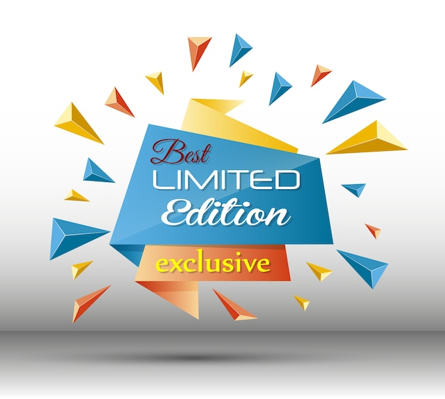 Vector illustration of exclusive limited edition template