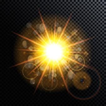 Vector illustration of fireworks, salute on a transparent backgr
