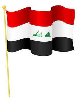 Vector illustration of the flag iraq